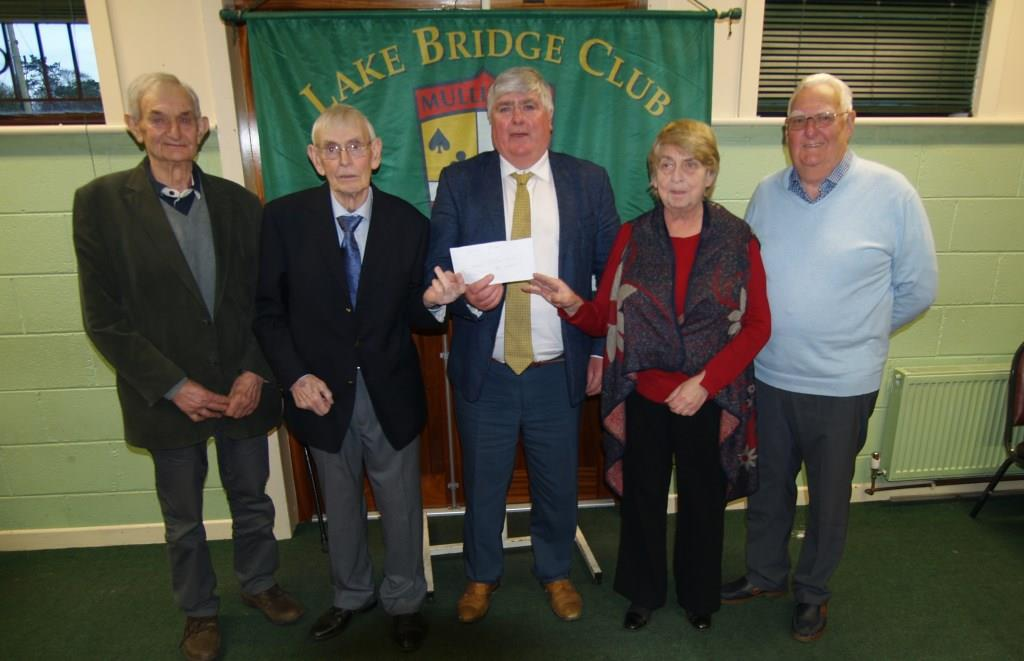 Pat Medford, Billy Kelly, Eamonn Bray vice-president Lake club , Maura Hogan and Jim Hearn
