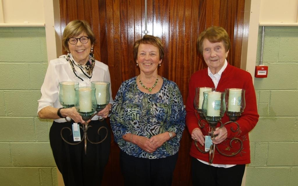Winners of the Centre Chairperson's Prize, Treas Colleary and Peggy Murtagh with the Centre Chairperson, Rita McCormack