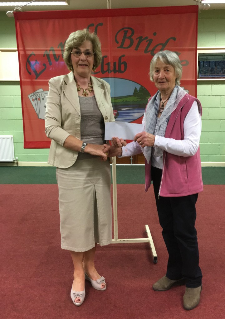 Kathleen O'Reillyis presented with the winners prize in the Summer League by President Maura McAuliffe