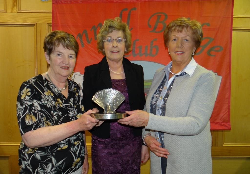 Kathleen Shaw & Olive Weir winners of the Pewter Trophy with President Maura McAuliffe