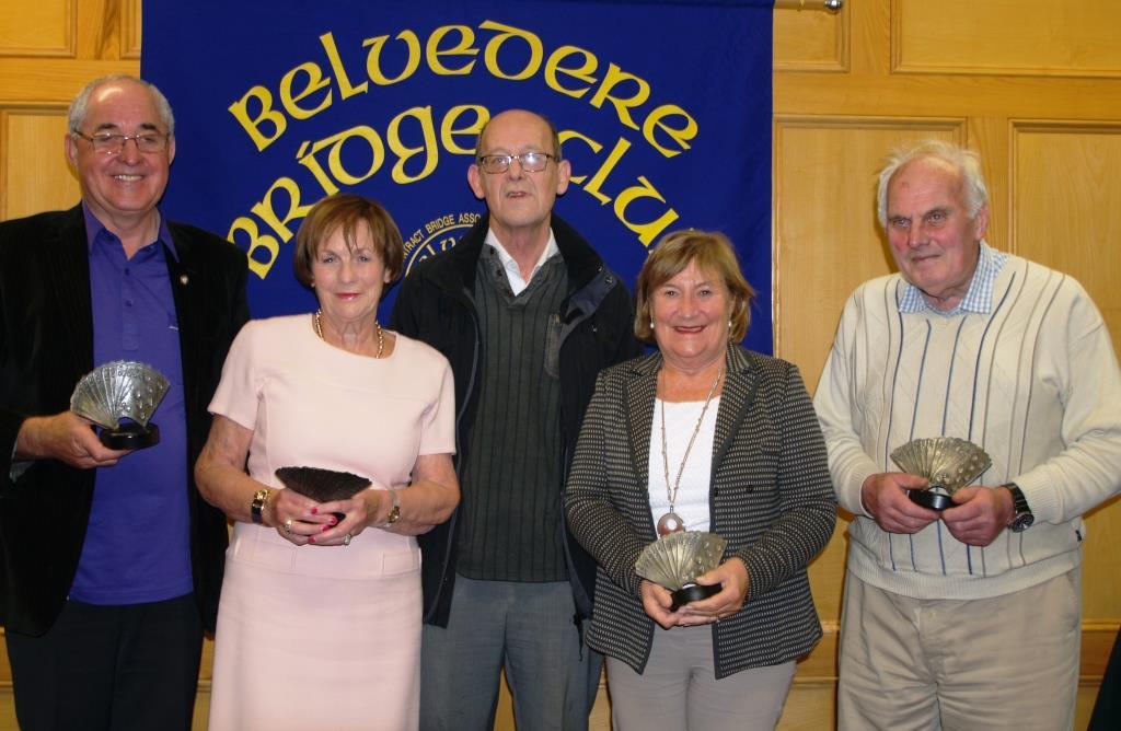 Lough Owel Trophy Matty Blake, Dervilla McGirr, Angela Dockery, Pat Seery winners with Martin Hynes  (centre) sponsor.