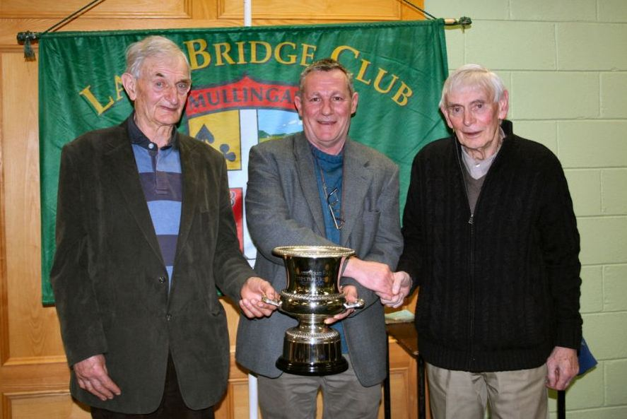 Winners of the Analagh Trophy, Pat Medford and Billy Kelly with Lake Club President John Butler