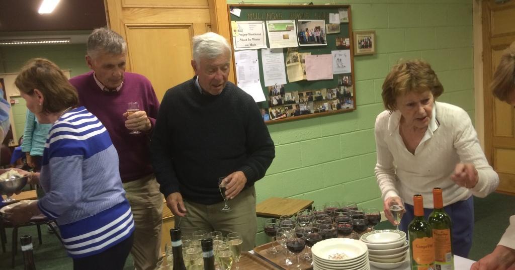 President Eileen Leavy serves the Slanemore Strawberries & Cream
