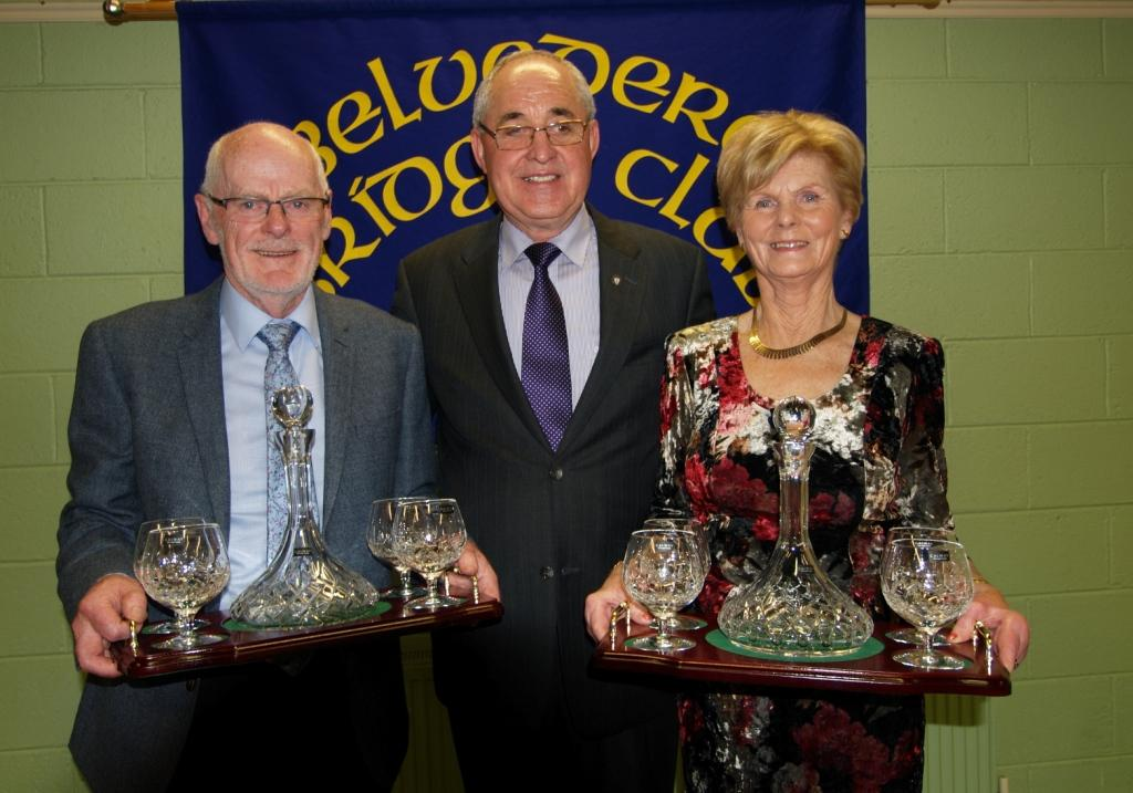 Matty Blake President with the winners of his President's Prize, John Smyth and Maura Maguire.