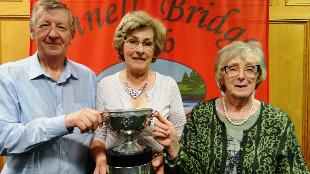 Winners Roger Conway & Mary Cahill with Ennell Club President, Maura McAuliffe